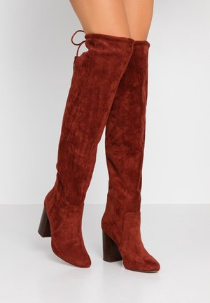 MEQUEL - Boots med høye hæler - rust