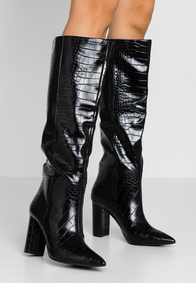 SILA - High Heel Stiefel - black
