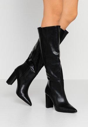 SILA - Boots med høye hæler - black