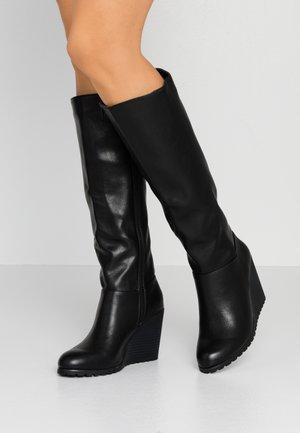 ADELEINE - Stivali con i tacchi - black