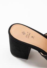 Call it Spring - TARASA - Pantofle na podpatku - other black - 2