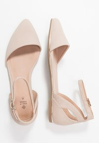 Call it Spring - CHARLOTE - Ankle strap ballet pumps - bone - 3