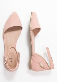 Call it Spring - CHARLOTE - Ankle strap ballet pumps - light pink - 3