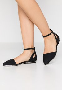 Call it Spring - CHARLOTE - Ankle strap ballet pumps - black - 0