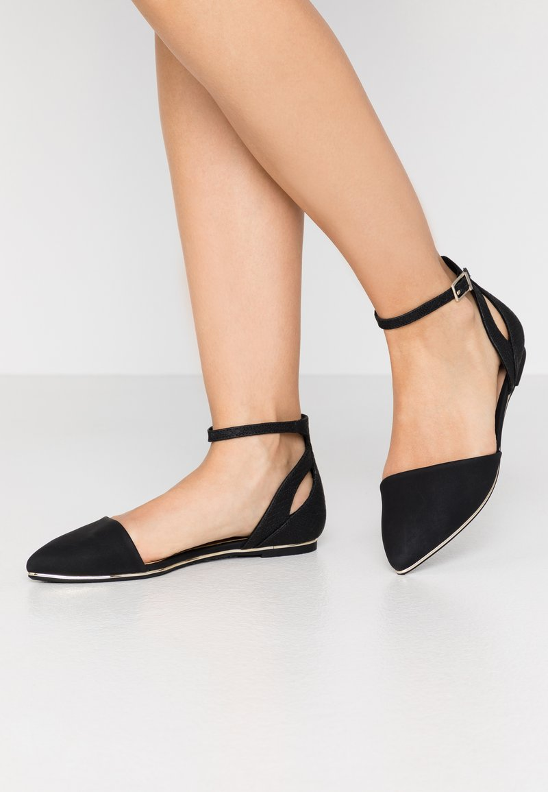 Call it Spring - CHARLOTE - Ankle strap ballet pumps - black
