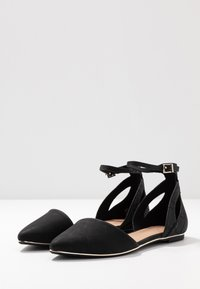 Call it Spring - CHARLOTE - Ankle strap ballet pumps - black - 4