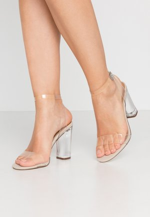 CARLYY - High heeled sandals - clear