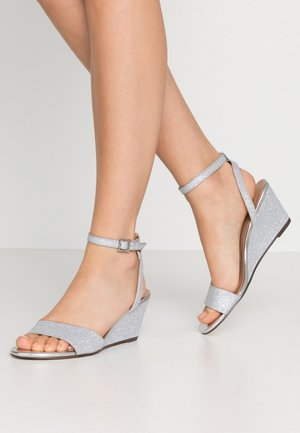 CATCH - Wedge sandals - silver