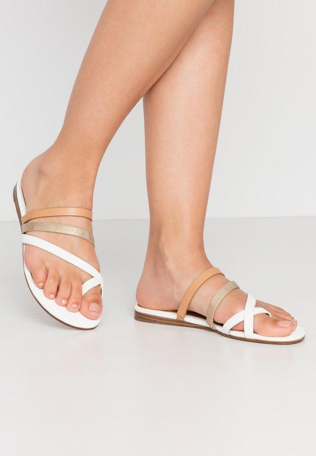 ERERAN - Sandaler m/ tåsplit - white