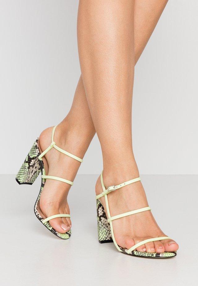 IMPRESSA - Sandaler med høye hæler - light green