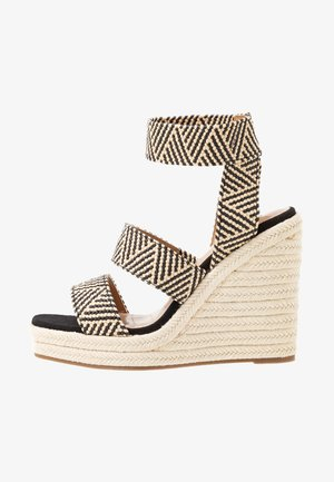 MARICHINI - Sandalias de tacón - black/multicolor