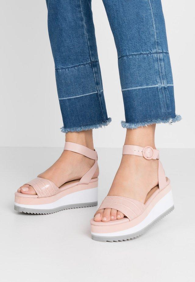 RILEYY - Platform sandals - light pink