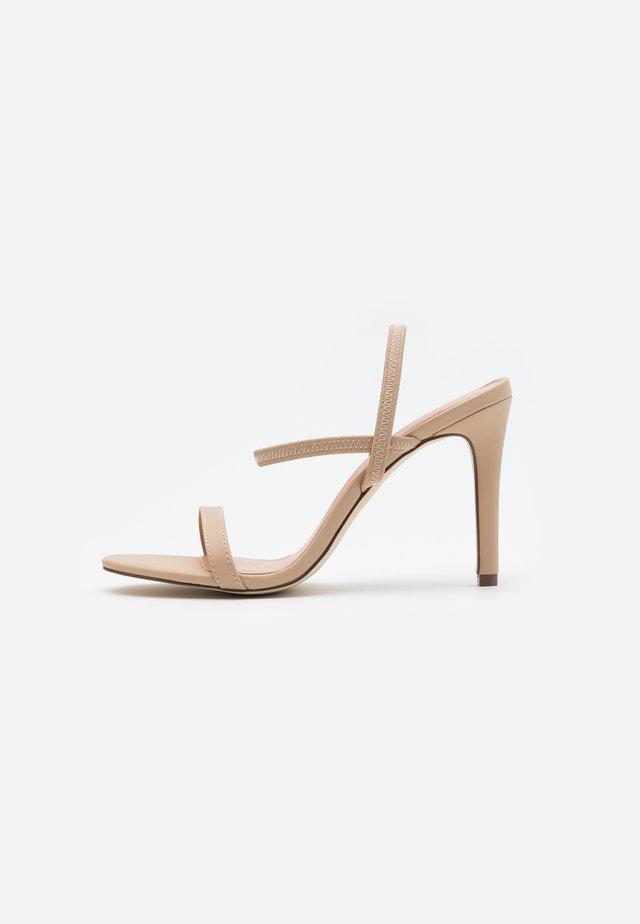 ZAYWIEN - Sandały na obcasie - medium beige