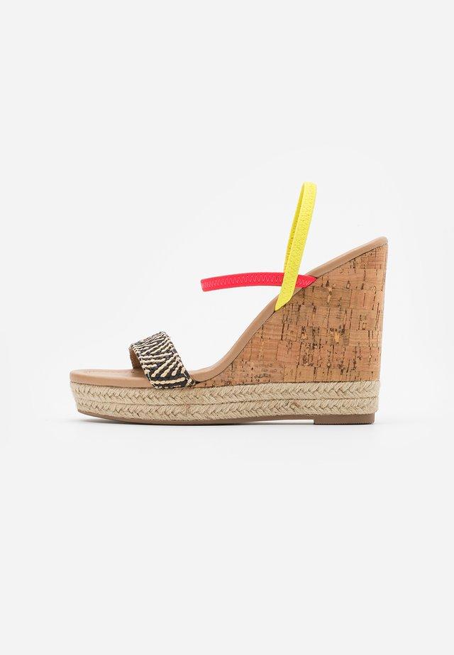 HANENBURG - High heeled sandals - bright yellow