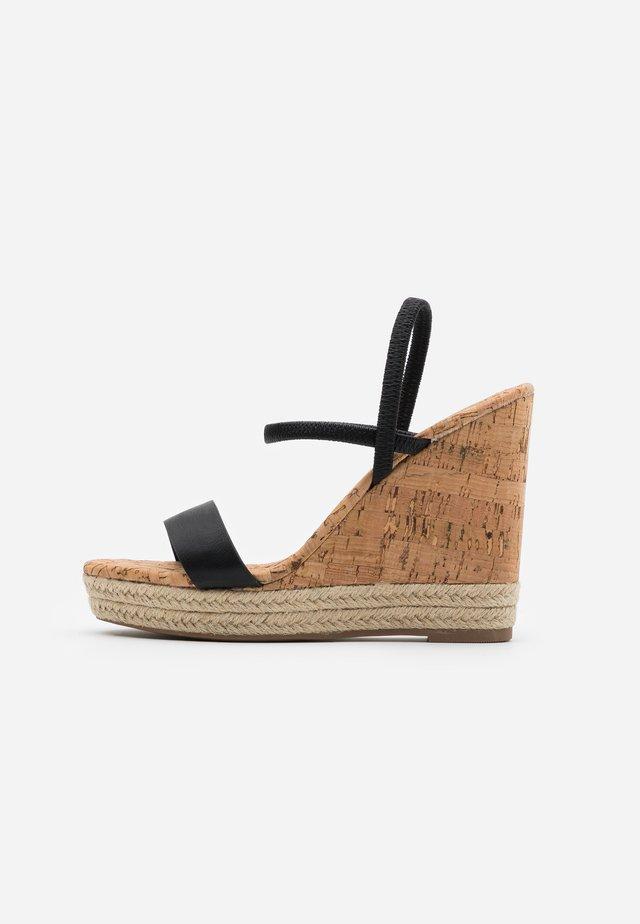 HANENBURG - High heeled sandals - black