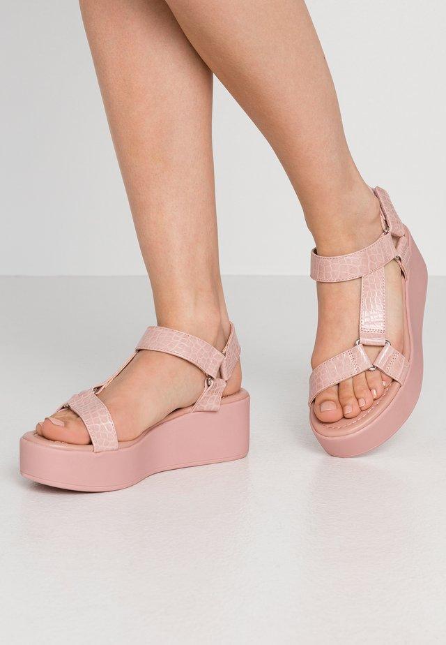 LANCYY - Platform sandals - light pink