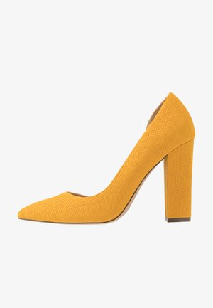 EMMA - Escarpins à talons hauts - dark yellow