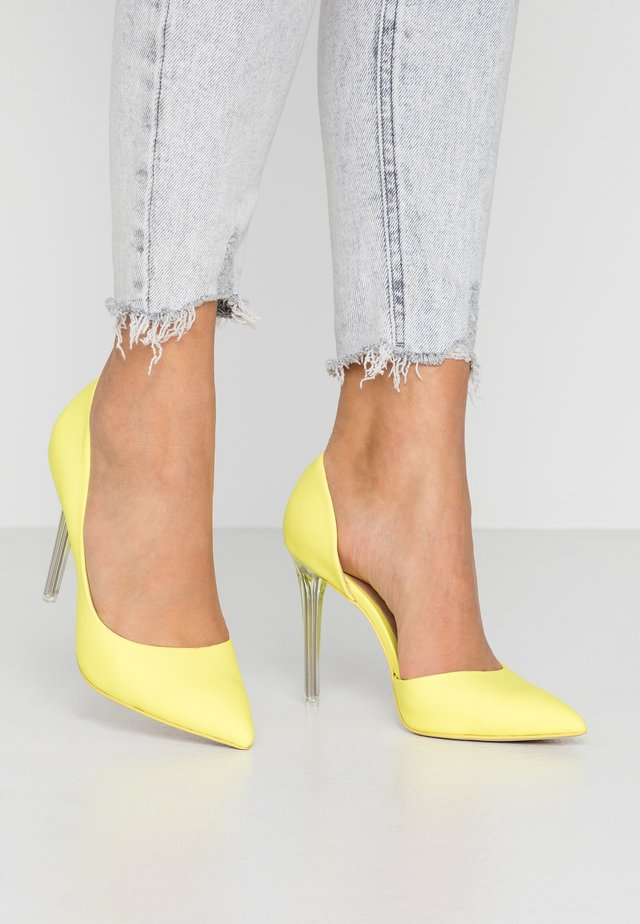 DEVANNA - High Heel Pumps - bright yellow
