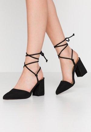 MADEMOISELLE - Lace-up heels - black