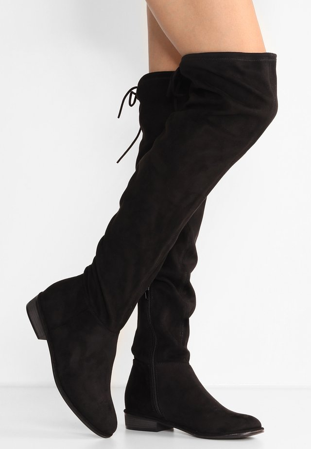LEGIVIA VEGAN - Stivali sopra il ginocchio - black