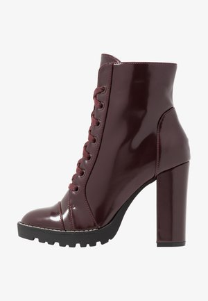 AXELL - High heeled ankle boots - bordo