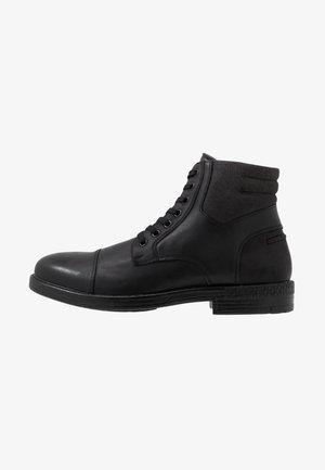 BRERARI - Šněrovací kotníkové boty - other black