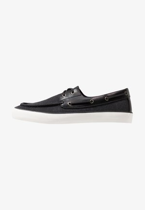 GREENLING - Boat shoes - black