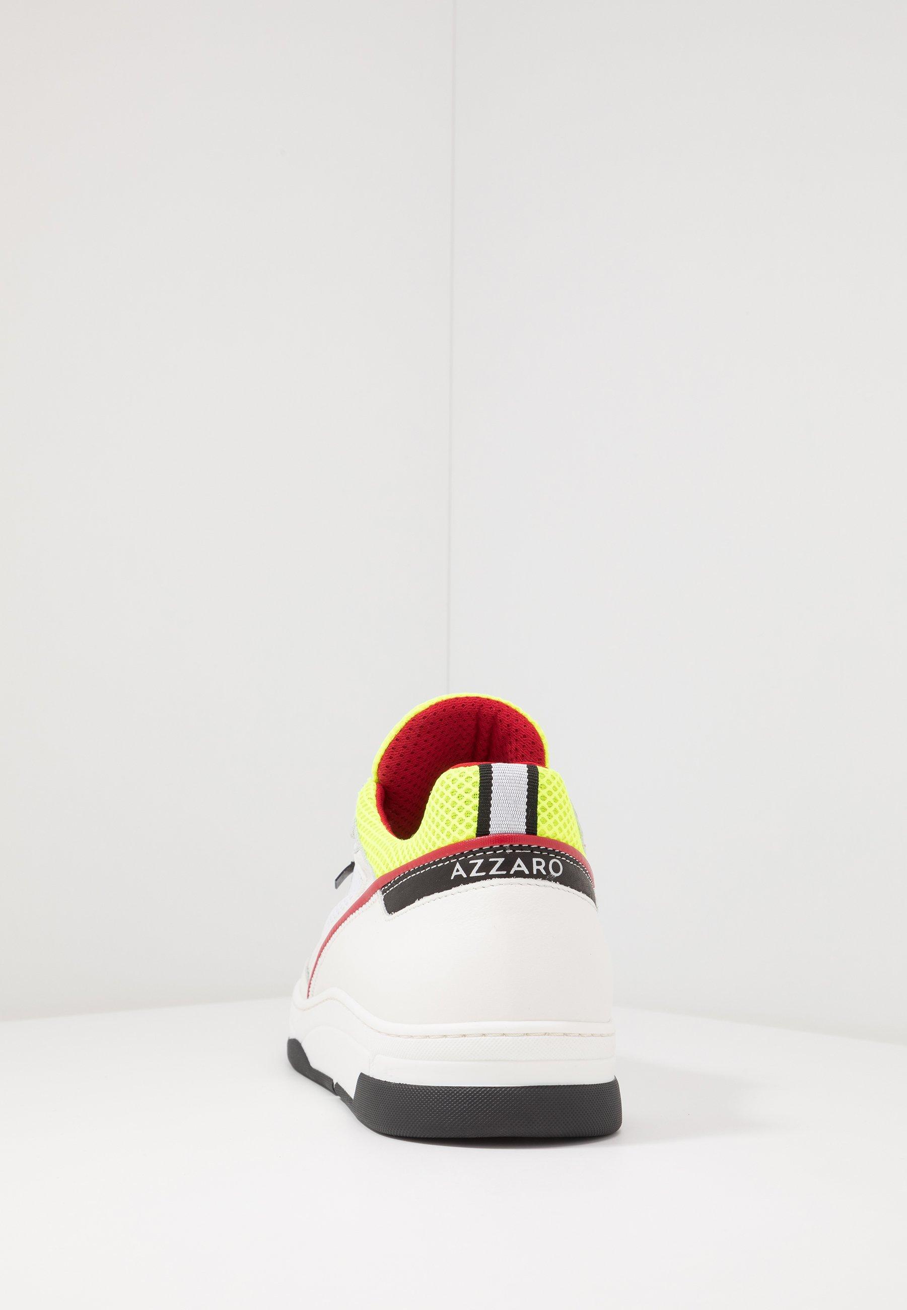 Azzaro JOGG - Baskets basses - blanc/noir/jaune