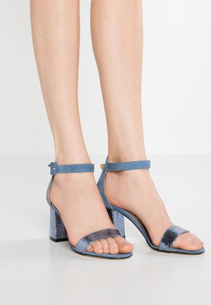 Sandały - jeans/oceano