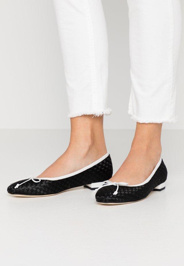 Ballet pumps - nero/bianco