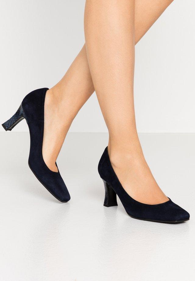Klassiske pumps - blu
