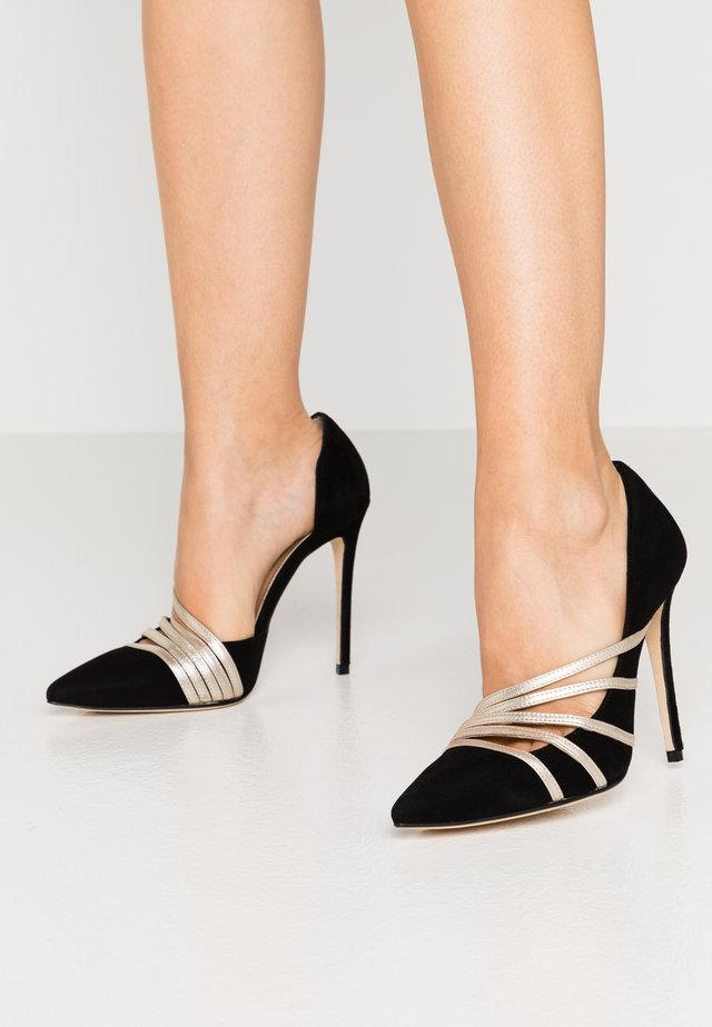 High Heel Pumps - nero/platino