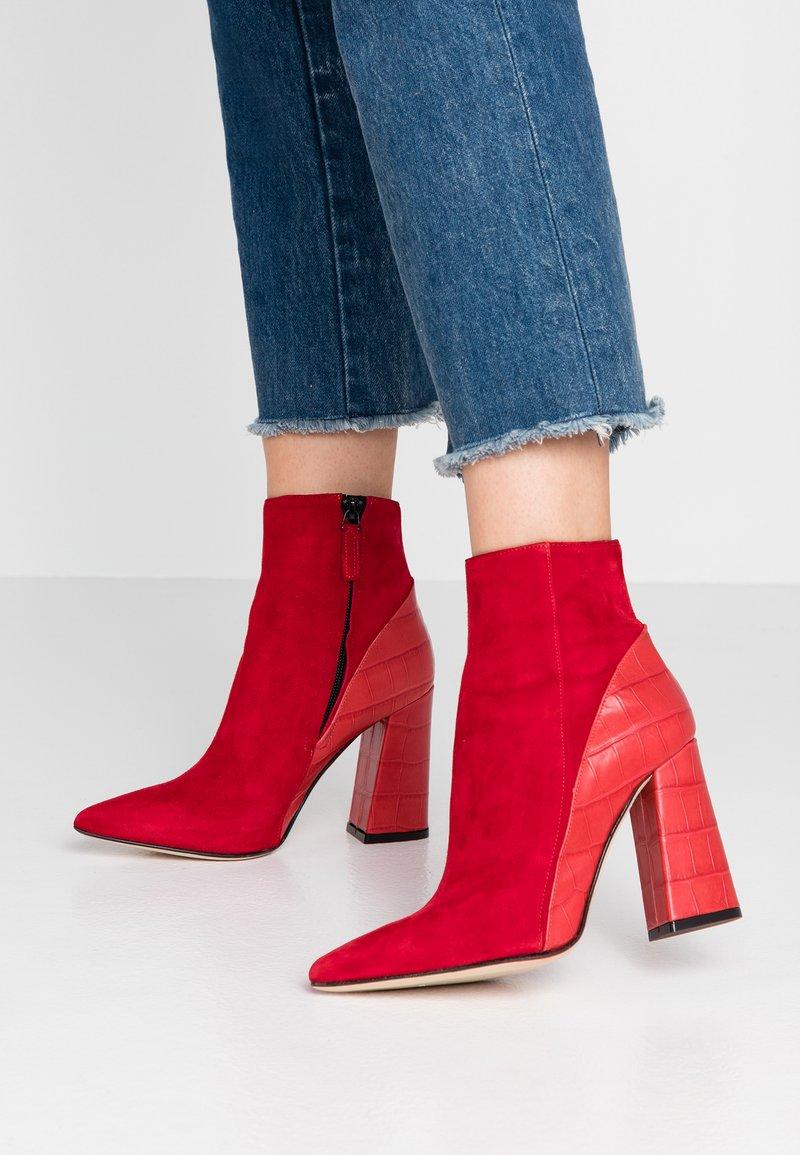 Alberto Zago - High heeled ankle boots - kenia rosso