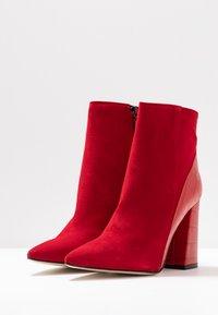 Alberto Zago - High heeled ankle boots - kenia rosso - 4