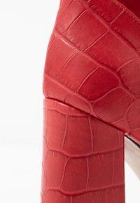 Alberto Zago - High heeled ankle boots - kenia rosso - 2