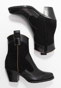 Alberto Zago - Cowboy/biker ankle boot - nero - 3