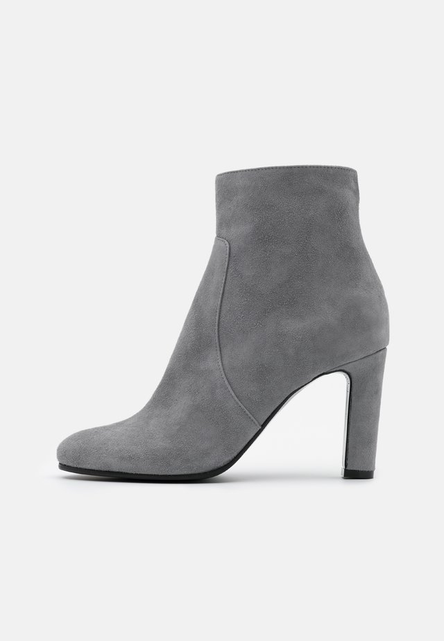 High heeled ankle boots - acciaio