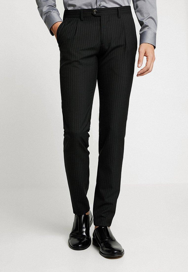 Bertoni - SCHACK - Suit trousers - black