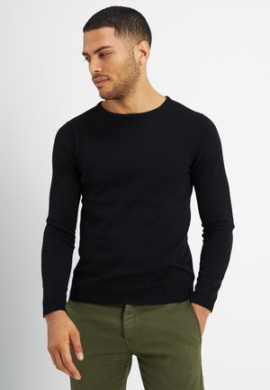 LUKAS - Stickad tröja - jet black