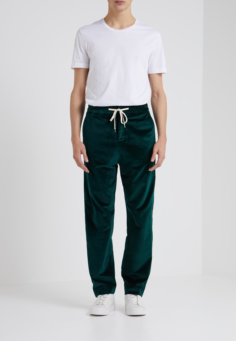 Band of Outsiders - VINTAGE FORMAL TRACK TROUSERS - Stoffhose - davos green