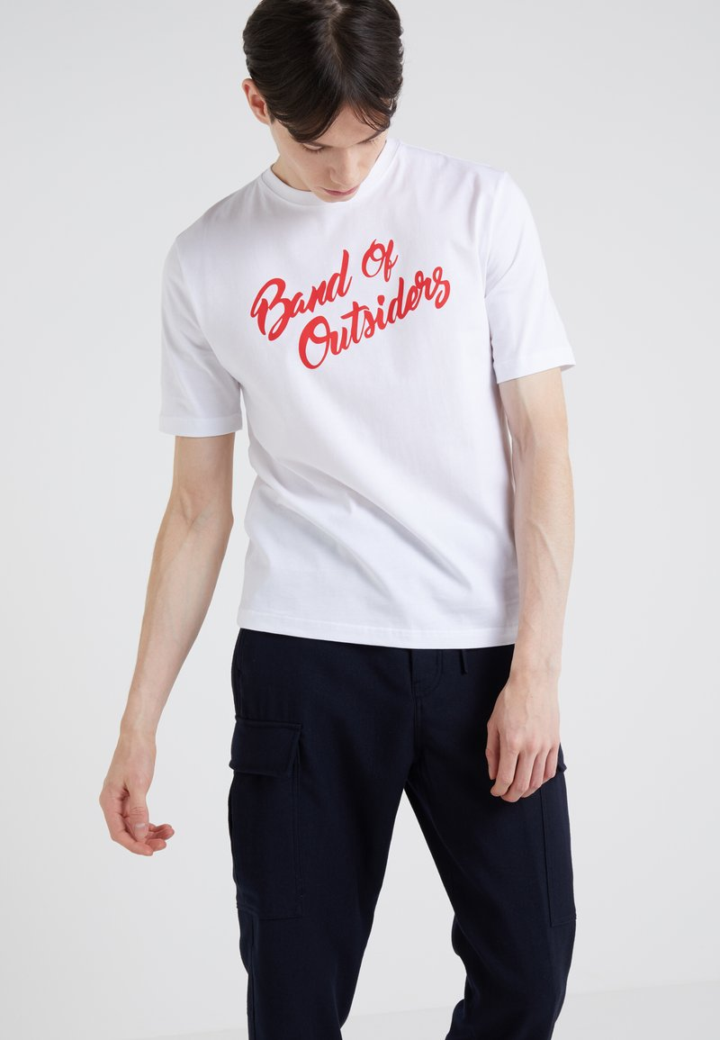 Band of Outsiders - ALPINE BAND  - T-shirts med print - aspen white