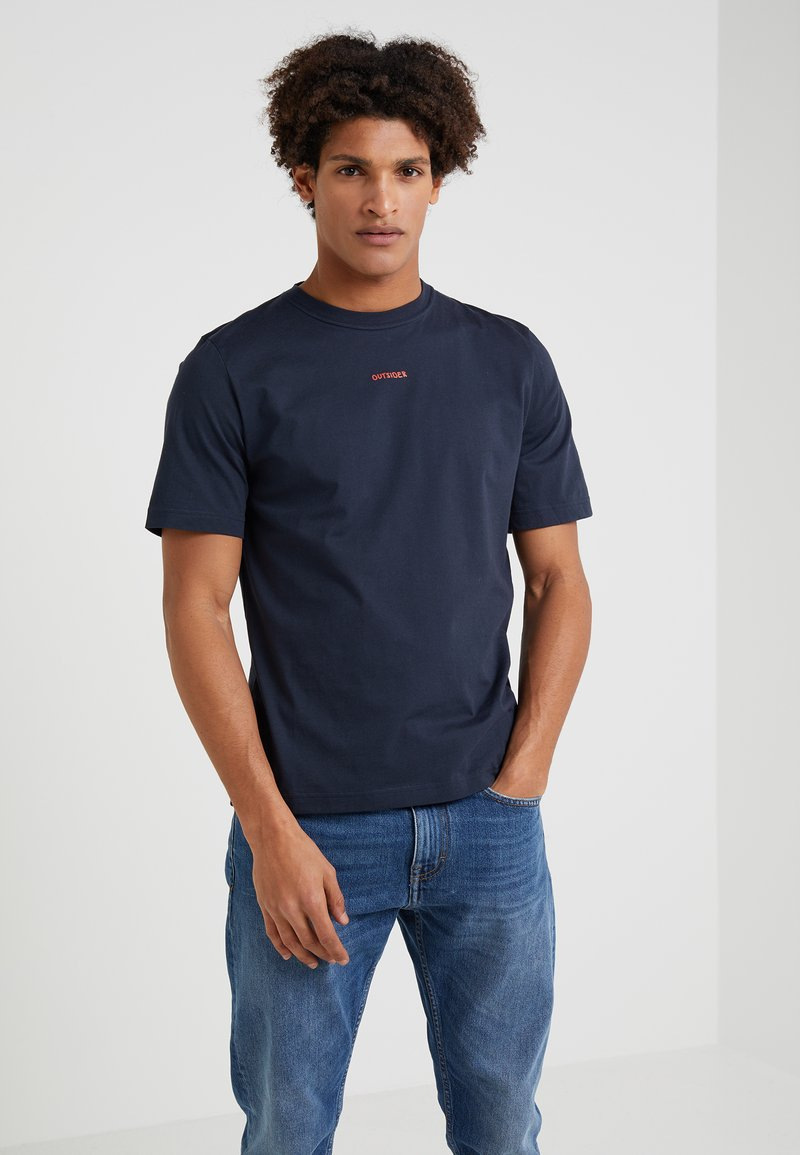 Band of Outsiders - OUTSIDER  - Basic T-shirt - navy
