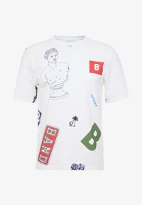 Band of Outsiders - ALL PATCH  - T-shirt imprimé - white - 3