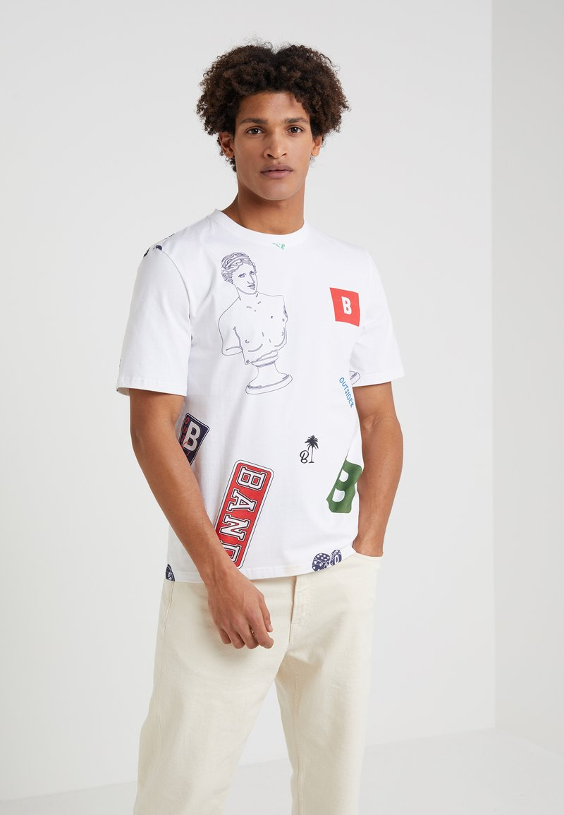 Band of Outsiders - ALL PATCH  - T-shirt imprimé - white