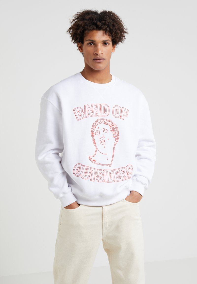 Band of Outsiders - EMBROIDERED CREW NECK  - Sweatshirts - white