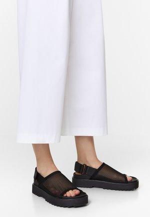 BIMBA Y LOLA BLACK MESH FLAT SANDAL - Sandals - black