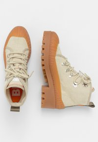 Bimba Y Lola - BIMBA Y LOLA BEIGE CANVAS TREKKING BOOT - Lace-up ankle boots - natural - 2