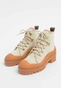 Bimba Y Lola - BIMBA Y LOLA BEIGE CANVAS TREKKING BOOT - Lace-up ankle boots - natural - 3