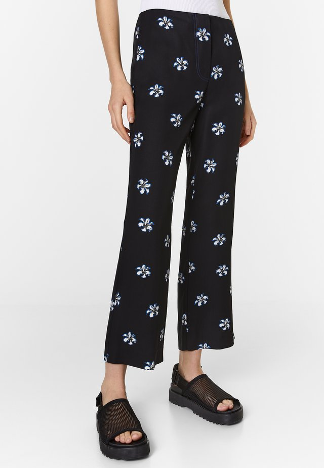 Trousers - black-blue