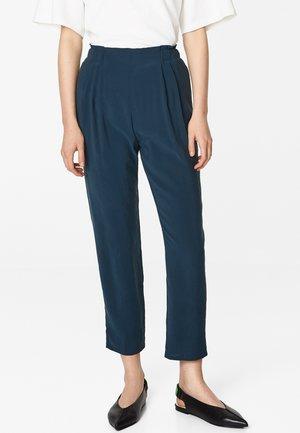 Trousers - petrol blue